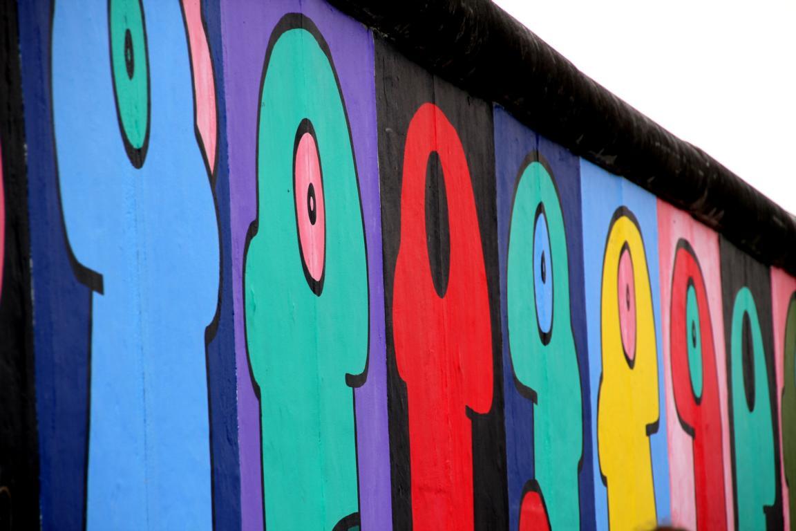 Berliner Mauer entlang der Stralauer Allee - Spreeinsel Immobilien